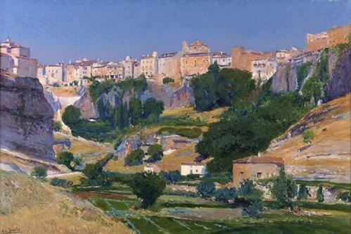 cuadros-de-paisajes - Cuadro -Las huertas (Cuenca)- - Beruete, Aureliano de