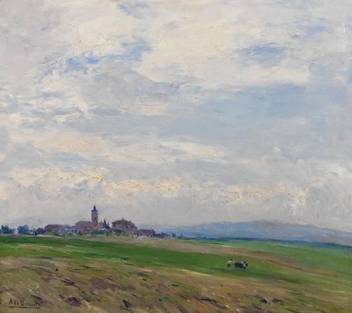cuadros-de-paisajes - Cuadro -Paisaje castellano- - Beruete, Aureliano de