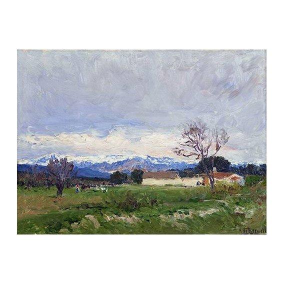 cuadros de paisajes - Cuadro -Paisaje del Pardo (Madrid)-