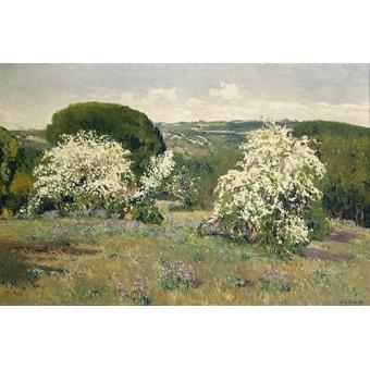 - Cuadro -Espinos en flor- - Beruete, Aureliano de