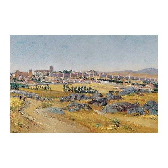 cuadros de paisajes - Cuadro -Avila, 1909-
