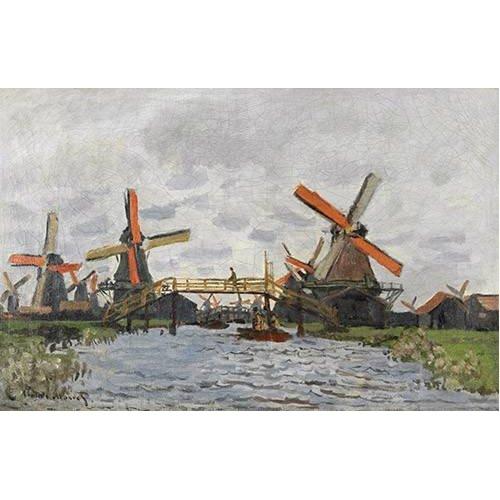 Cuadro -Windmills near Zaandam, 1871-