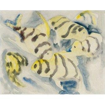 cuadros de fauna - Cuadro -Fish Series, No-3- - Demuth, Charles