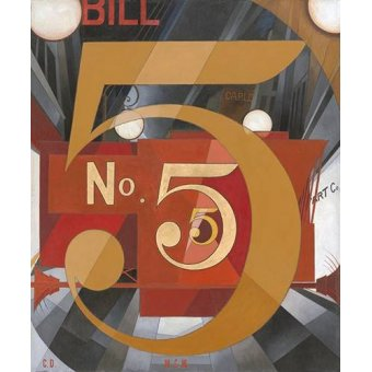 Pasillo - Cuadro -I Saw the Figure 5 in Gold- - Demuth, Charles