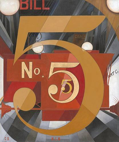 cuadros-modernos - Cuadro -I Saw the Figure 5 in Gold- - Demuth, Charles