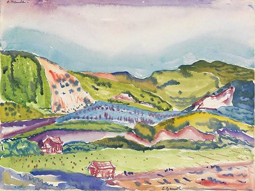 cuadros-modernos - Cuadro -Mountain with Red House- - Demuth, Charles