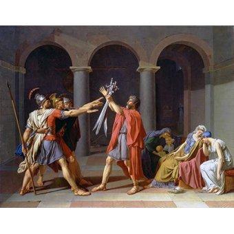 cuadros de retrato - Cuadro -El Juramento De Los Horacios- - David, Jacques Louis