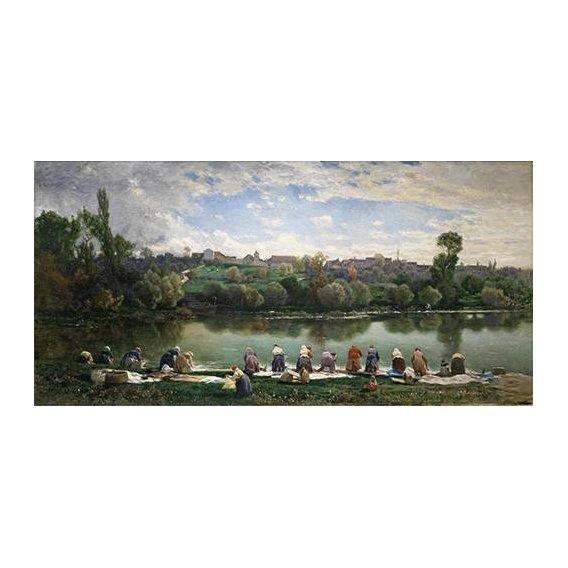 cuadros de paisajes - Cuadro -Lavanderas De La Varenne (Francia)-