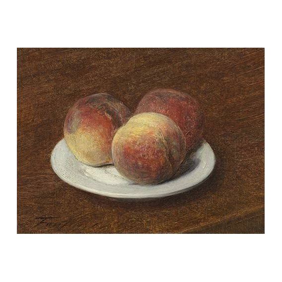 cuadros de bodegones - Cuadro -Three Peaches on a Plate, 1868-