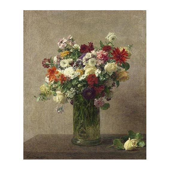 cuadros de flores - Cuadro -Flores en un jarron-