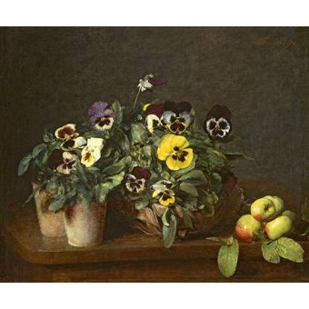 - Cuadro -Still Life with Pansies- - Fantin Latour, Henri