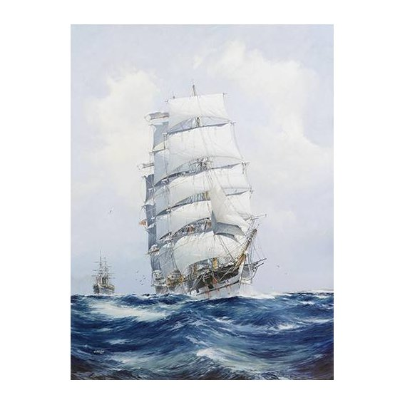 cuadros de marinas - Cuadro -The square-rigged wool clipper under full sail-