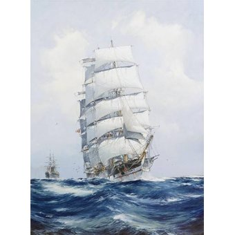 - Cuadro -The square-rigged wool clipper under full sail- - Spurlng, J.