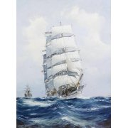 Cuadro -The square-rigged wool clipper under full sail-