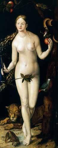 cuadros-religiosos - Cuadro -Eva- - Dürer, Albrecht (Albert Durer)