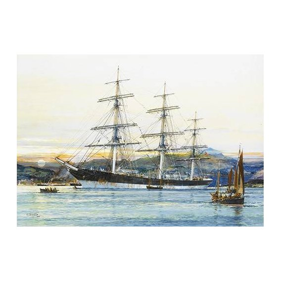 cuadros de marinas - Cuadro -The square-rigged Australian clipper -Old Kensington- lying on
