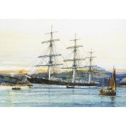Cuadro -The square-rigged Australian clipper -Old Kensington- lying on