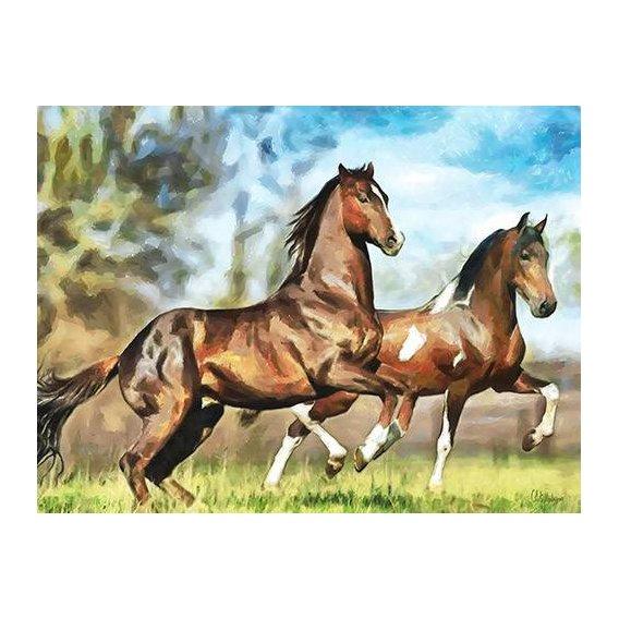cuadros modernos - Cuadro -Moderno CM10537- (caballos)