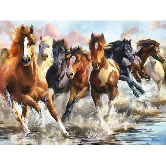 cuadros de fauna - Cuadro -Moderno CM10750- (caballos) - Medeiros, Celito