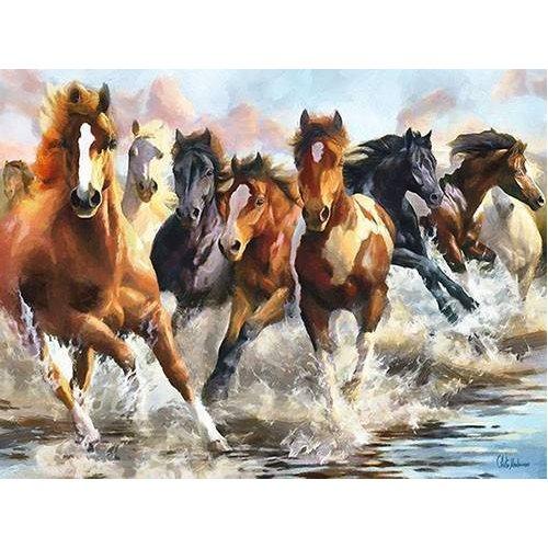 cuadros modernos - Cuadro -Moderno CM10750- (caballos)