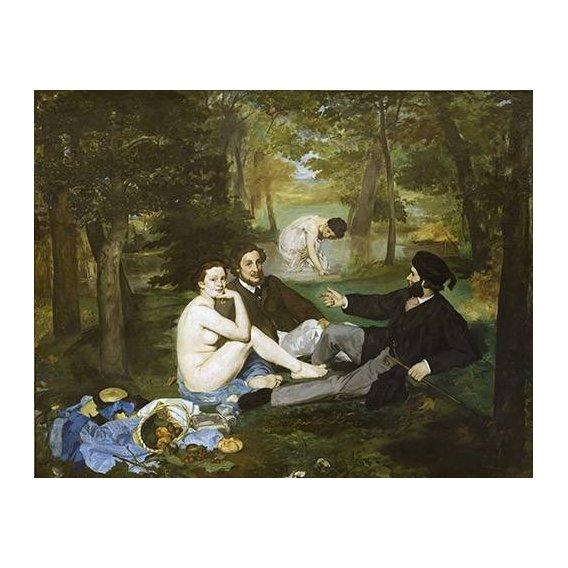 cuadros de retrato - Cuadro -Desayuno en la hierba, 1863-
