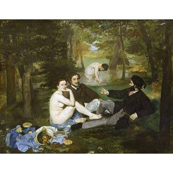 cuadros de retrato - Cuadro -Desayuno en la hierba, 1863- - Manet, Eduard