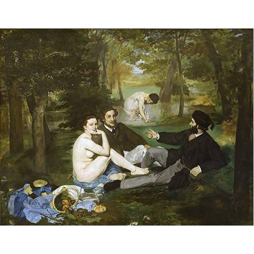 Cuadro -Desayuno en la hierba, 1863-