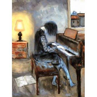 cuadros de retrato - Cuadro -Moderno CM11215- - Medeiros, Celito