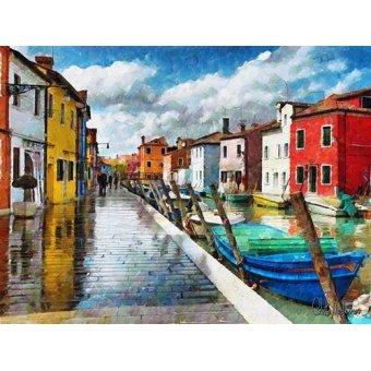 cuadros de marinas - Cuadro -Moderno CM10514- - Medeiros, Celito