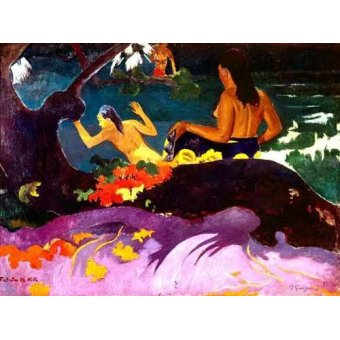 cuadros de retrato - Cuadro -Fatata te Miti, 1892- - Gauguin, Paul