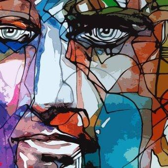 cuadros de retrato - Cuadro -Moderno CM6828- - Medeiros, Celito
