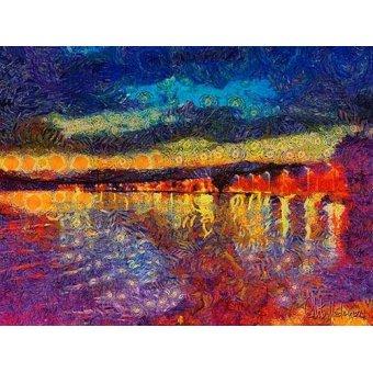cuadros de paisajes - Cuadro -Moderno CM12282- - Medeiros, Celito