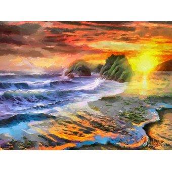 cuadros de paisajes - Cuadro -Moderno CM12280- - Medeiros, Celito