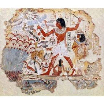 - Cuadro -Fresco en Thebes,- Casa de pajaros-- - _Anónimo Egipcio