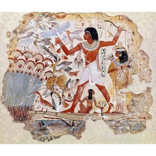 Cuadro -Fresco en Thebes,- Casa de pajaros--
