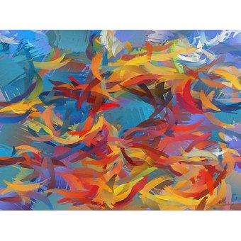 cuadros abstractos - Cuadro -Moderno CM12426- - Medeiros, Celito