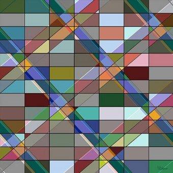 cuadros abstractos - Cuadro -Moderno CM12614- - Medeiros, Celito