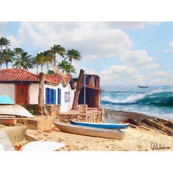cuadros de marinas - Cuadro -Moderno CM10738- - Medeiros, Celito