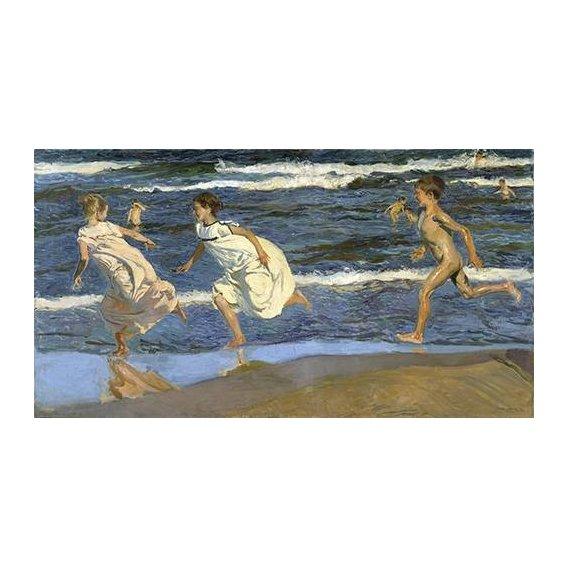 Cuadro -Corriendo por la playa-