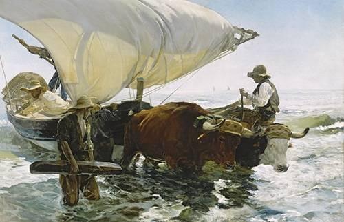cuadros-de-marinas - Cuadro -Vuelta de la pesca- - Sorolla, Joaquin