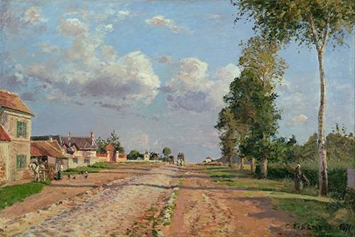 cuadros-de-paisajes - Cuadro -Route de Versailles- - Pissarro, Camille
