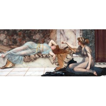 cuadros de retrato - Cuadro -Mischief and Repose- - Godward, John William