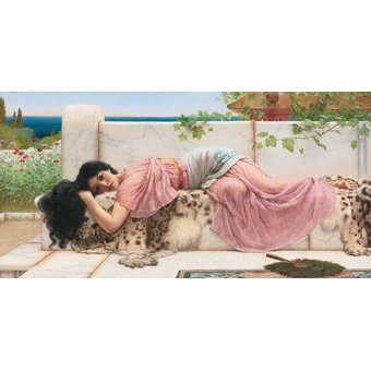 cuadros de retrato - Cuadro -When the heart is young, 1902-- - Godward, John William