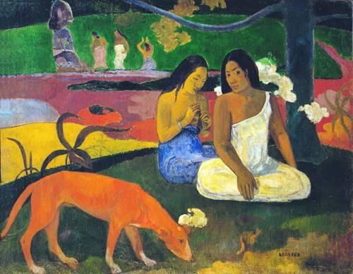 cuadros-de-retrato - Cuadro -Arearea- - Gauguin, Paul