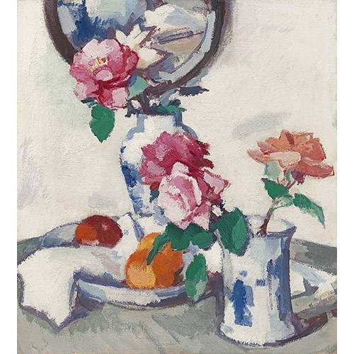 Cuadro -Still life with roses and fruit-