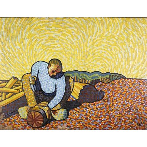 Cuadro -Los trabajadores de la madera-