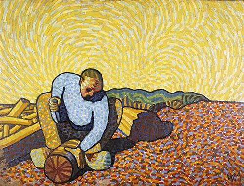cuadros-de-paisajes - Cuadro -Los trabajadores de la madera- - Morgner, Wilhelm