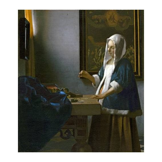 Cuadro -Woman Holding a Balance-