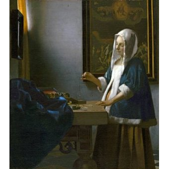 - Cuadro -Woman Holding a Balance- - Vermeer, Johannes
