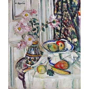 - Cuadro -Still Life With Daisies and Fruit- - Hunter, G.L.
